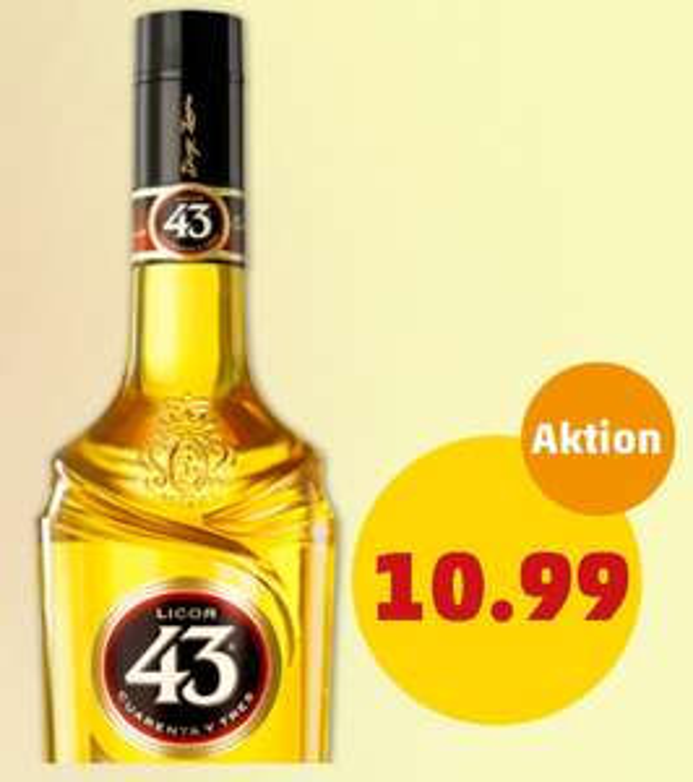 Licor 43 für 10,99€ bei Penny