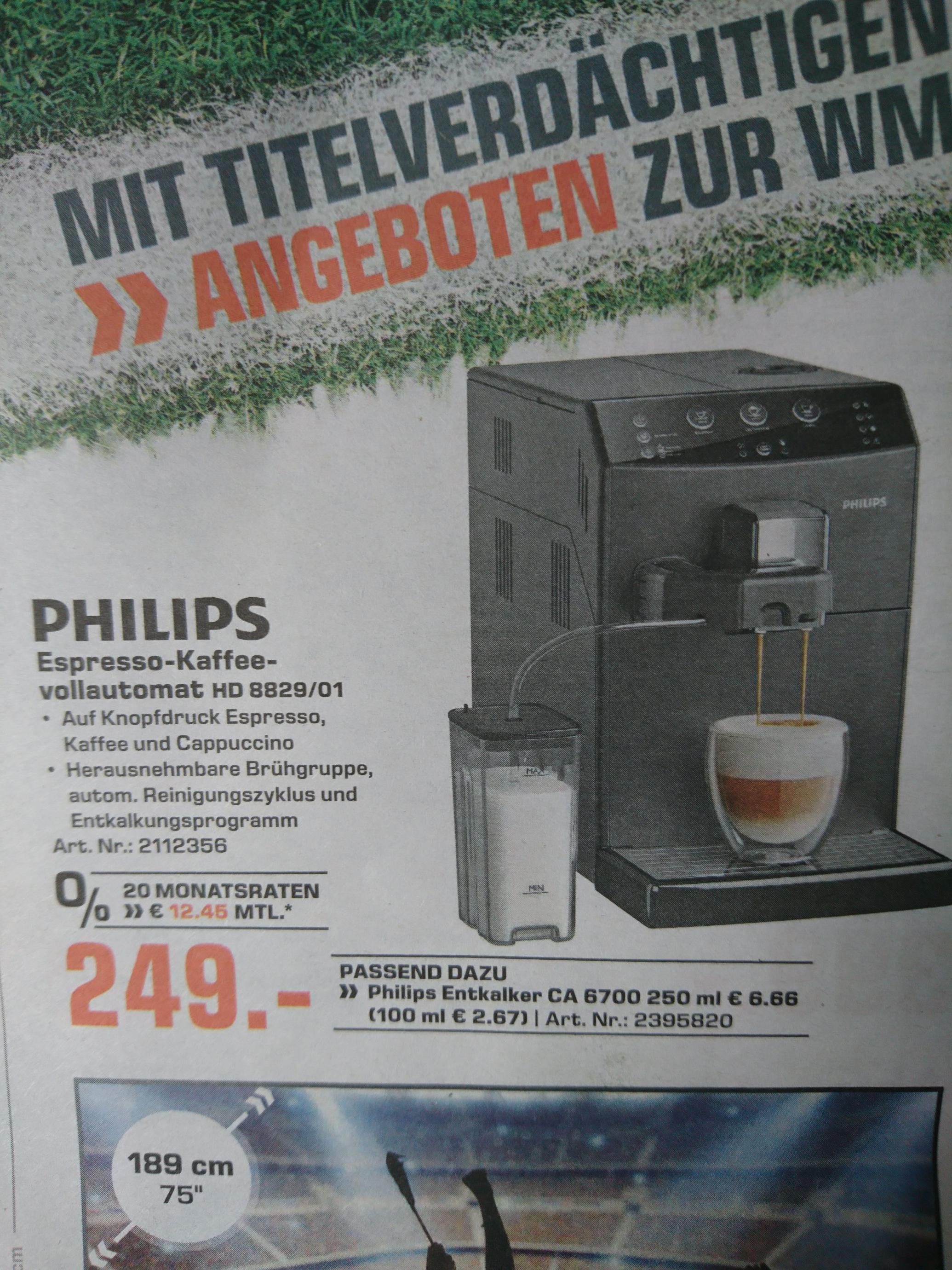 Lokal Saturn Moers: Philips Espresso Kaffeevollautomat HD 8829/01