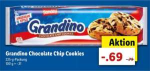 [Lidl] ab Donnerstag 28.06.2018 Grandino Chocolate Chip Cookies 225-g-Packung 69 Cent