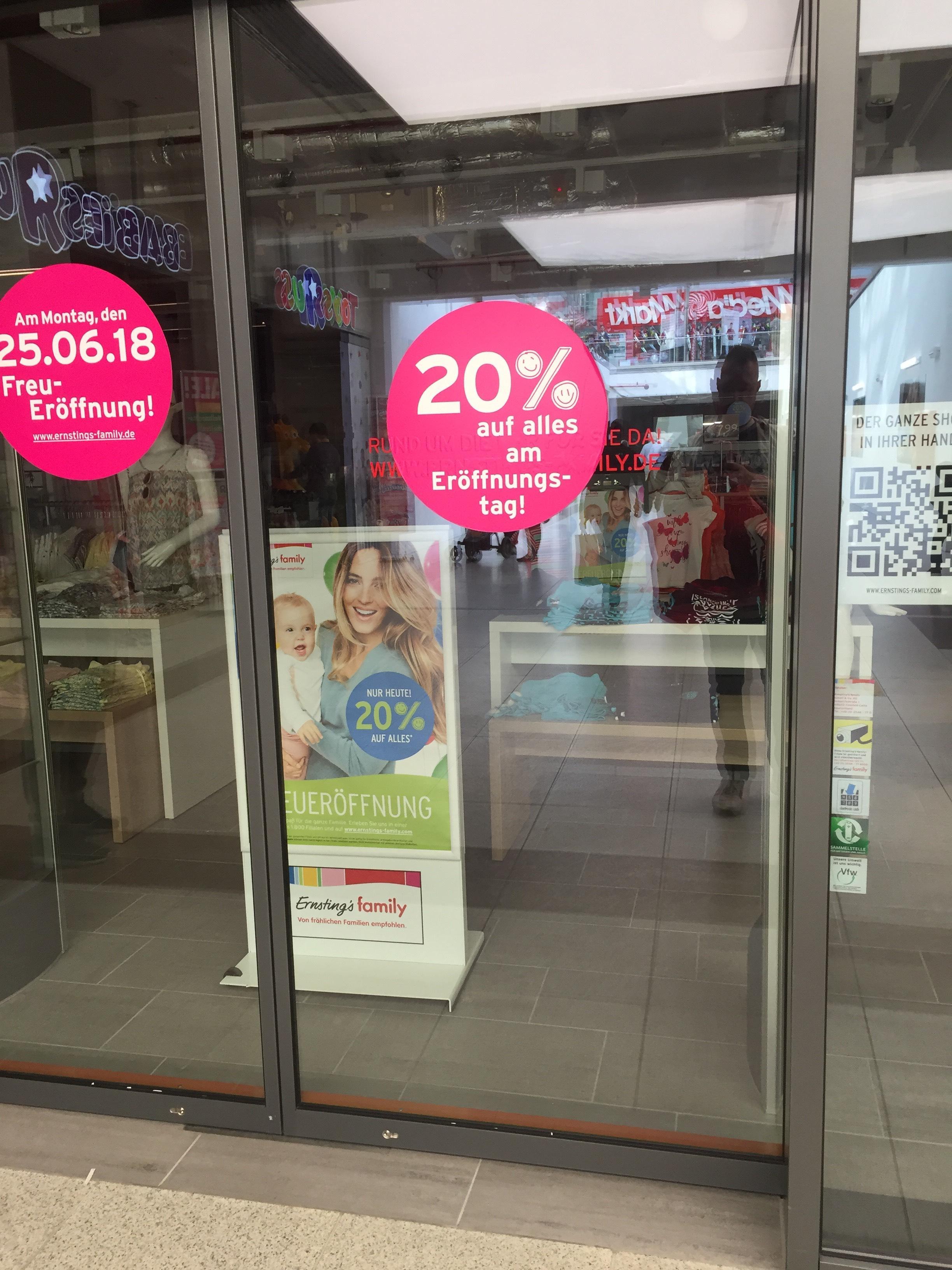 [Lokal Frankfurt] 20% Rabatt bei NEÖ Ernstings Family