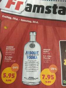 Absolut Vodka 7,95€ 0,5 l am Framstag 29.06-30.06.@ Penny