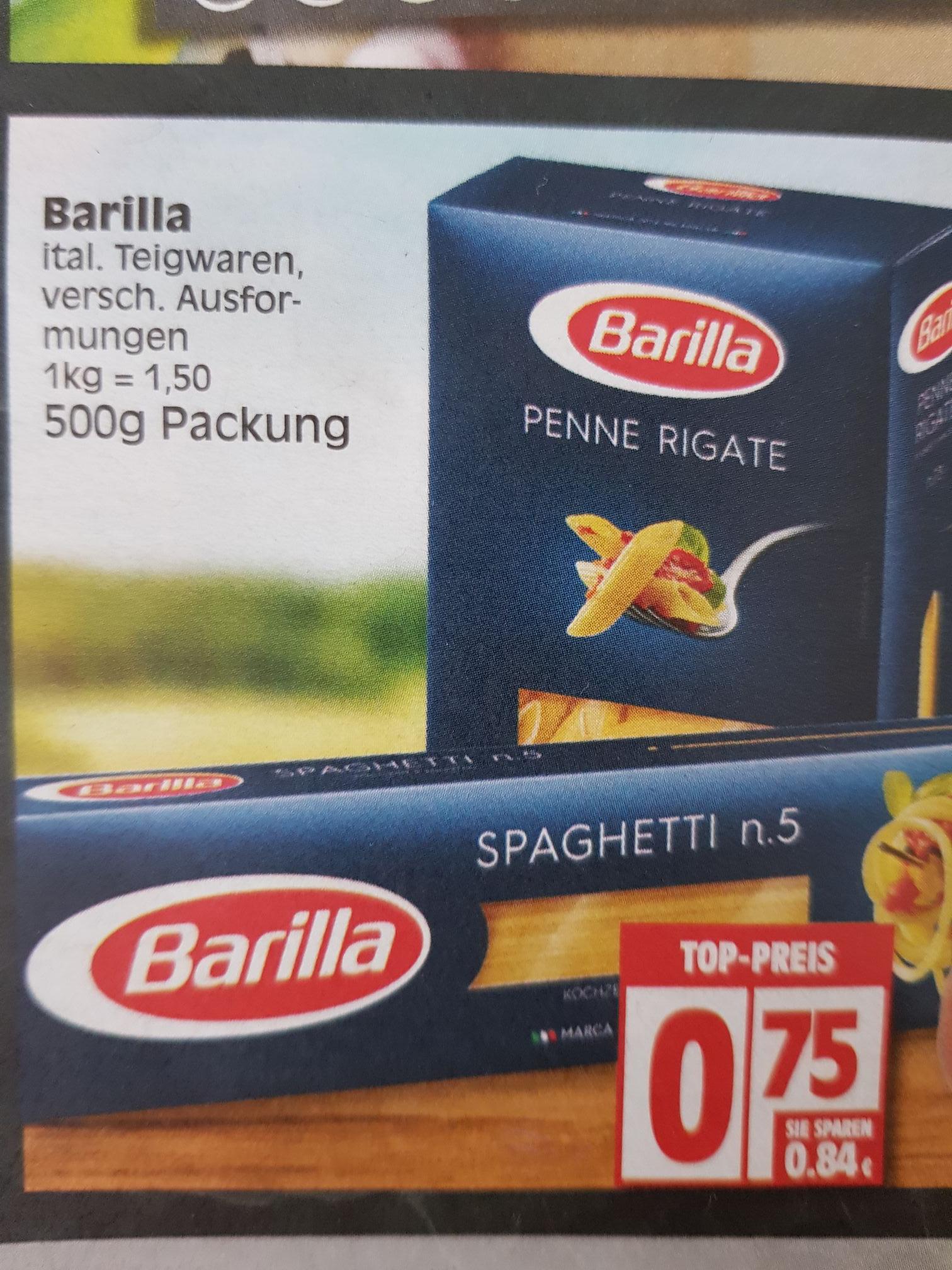 [EDEKA] Barilla verschiedene Sorten je 0.75€ pro 500g
