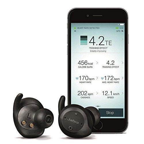 [Amazon.fr] Jabra Elite Sport schwarz True Wireless Bluetooth Sport-Kopfhörer mit In Ear Herzfrequenzmessung und Bewegungssensor