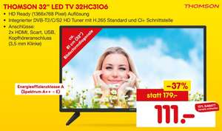 "[Lokal Netto Köln] Thomson 32"" LED TV (32HC3106)"