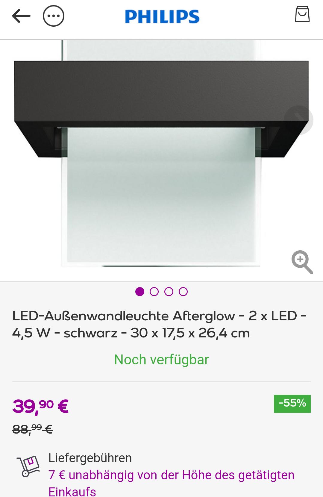 [vente-privee] Philips Außenleuchte Afterglow