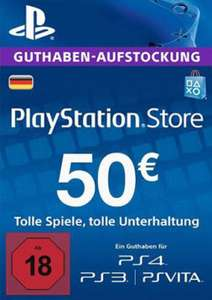 PlayStation Network Card - 50 Euro (PS4/PS3/DE)