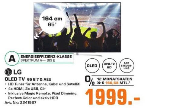 LG OLED65B7D (Lokal Saturn Hennef)