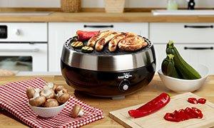 Rauchfreier Grill mit elektrischer Lüftung BarbeQool Deluxe Smokeless Grill (nur für Aussenbetrieb!!)
