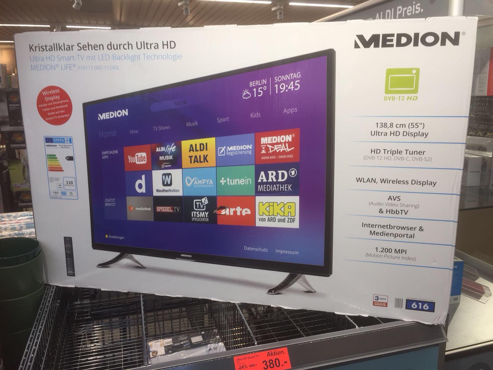 MEDION LIFE® X18112 (55 Zoll) für 380€ bei ALDI in Berlin