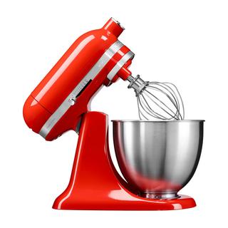 KitchenAid Artisan Mini Küchenmaschine 3,3L Feuerrot + Gratis Gemüseschneider oder Fleischwolf
