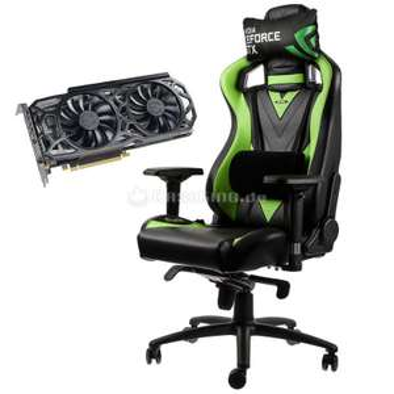 EVGA GTX 1080ti + Noble Chairs Gaming Stuhl