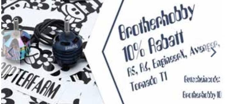 10% Rabatt auf alle Brotherhobby Motoren für Drohnen