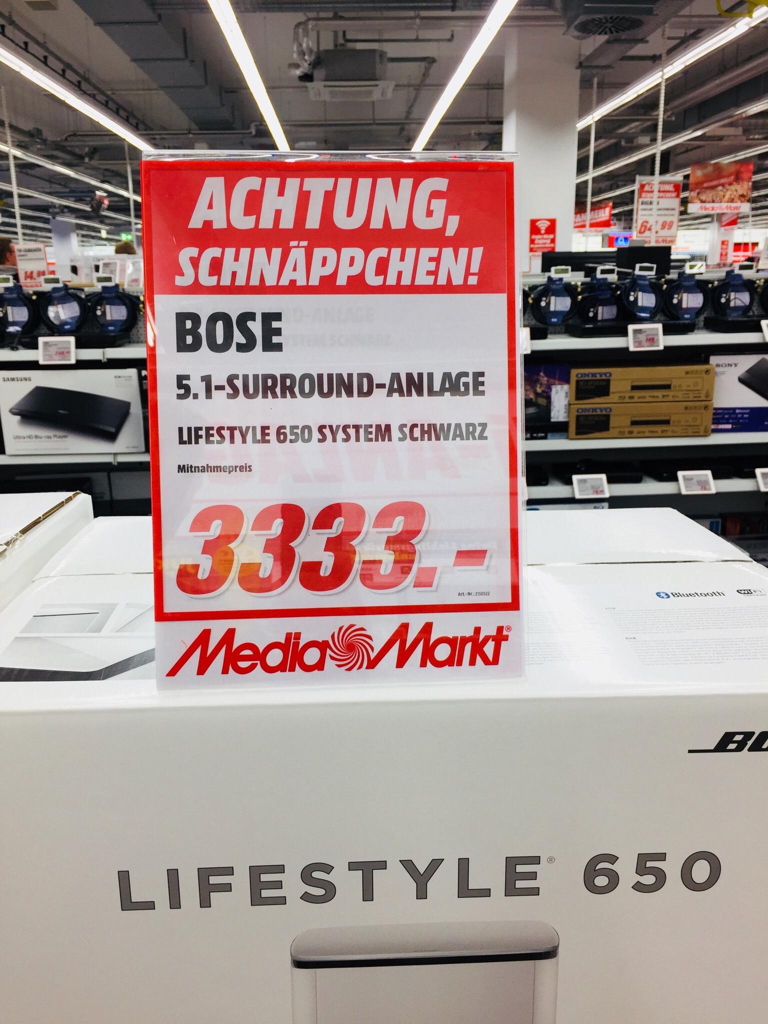 BOSE Lifestyle 650 zum Hammerpreis im MediaMarkt. Leipzig Höfe am Brühl