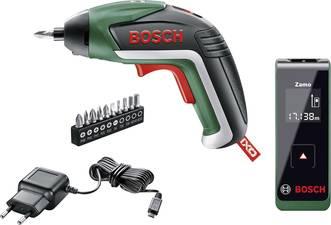 Bosch IXO V Akku-Schrauber + Zamo II Entfernungsmesser + Taschenlampe für 40,85€ (PVG: 82,40€)