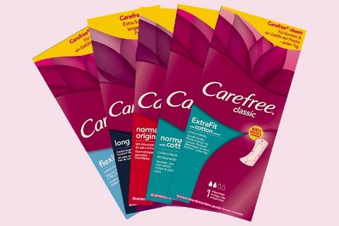 Carefree - jetzt wieder da - 2 Slipeinlagen gratis bestellen !