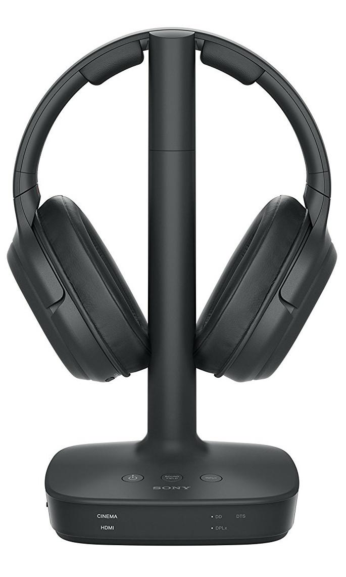 Sony WH-L600 Surround Funkkopfhörer (DTS, kabellos, für TV, Sport, Spiele u. Musik, Reichweite bis zu 30 Meter, Cinema Modus, bis zu 17 Stunden Akkulaufzeit) schwarz