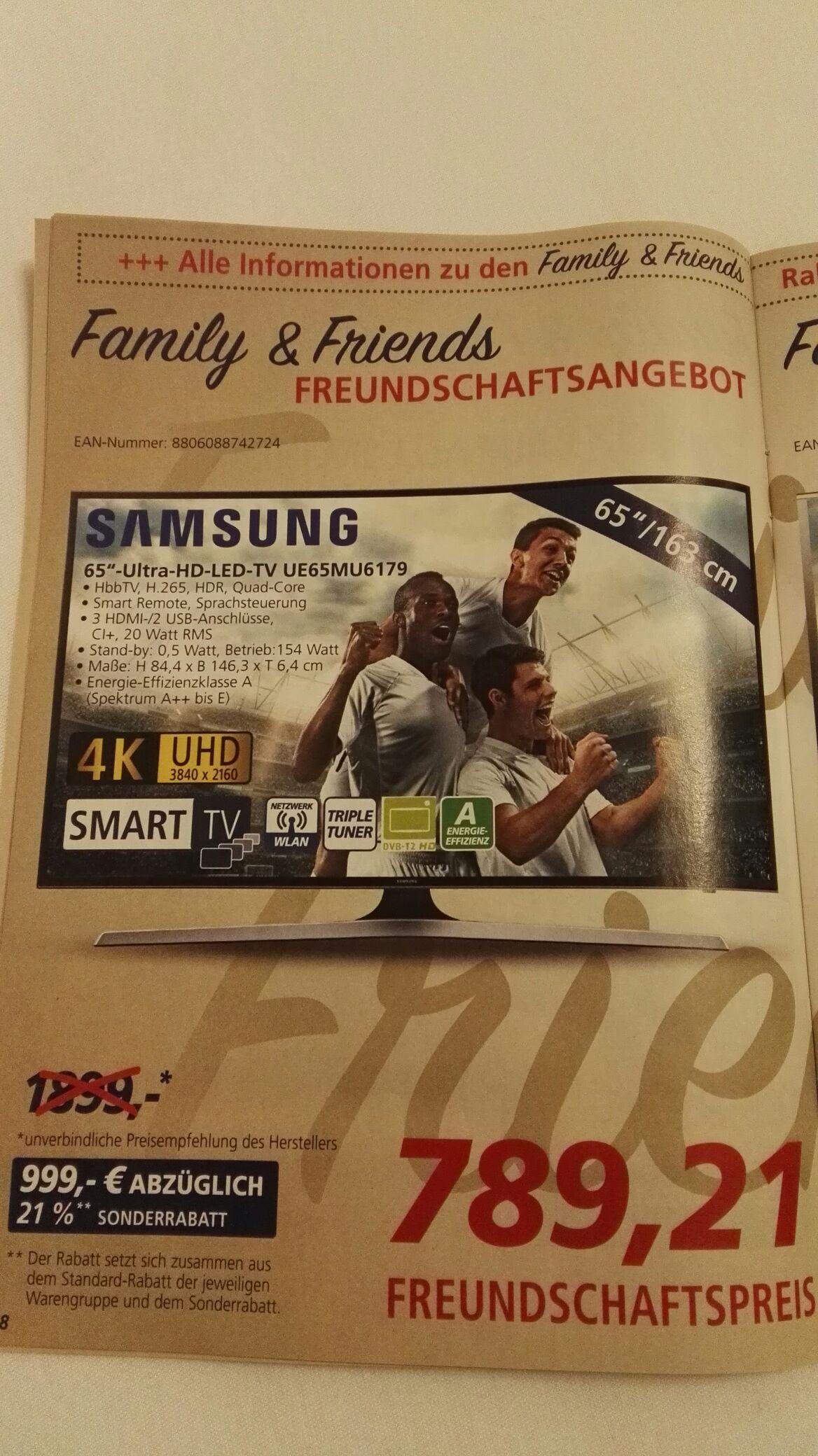 Samsung UE65MU6179 @Real Offline Family+Friends