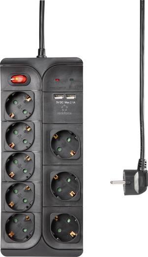 Renkforce Überspannungsschutz-Steckdosenleiste 8 Stecker + 2x USB@Conrad (+ggf 5,95 € Versand)
