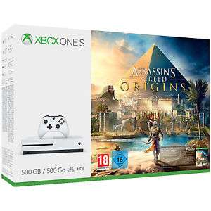 MICROSOFT Xbox One S 500GB Konsole - Assassins's Creed Origins Bundle für 169€ bzw. 152,10€ (mit Umzug nach AU) [Saturn@ebay]