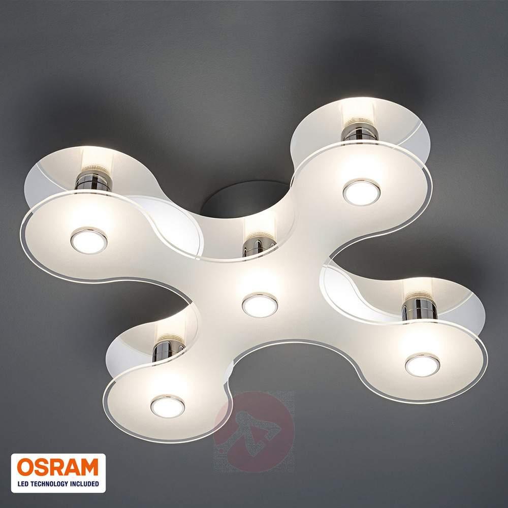 Lampen und Leuchten im Ausverkauf, z.B. Trio LED-Deckenleuchte 5-flammig