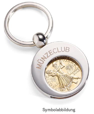 Glücksjeton im Schlüsselanhänger kostenlos beim MünzeClub der Münze Österreich !