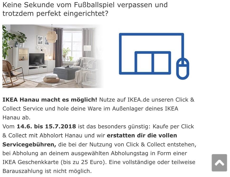 IKEA Hanau click & collect Erstattung