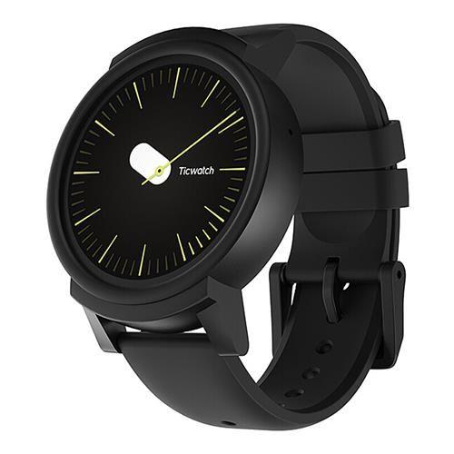 Smartwatch Mobvoi Ticwatch E in schwarz aus deutschem Lager Android Wear 2 Wear OS 2
