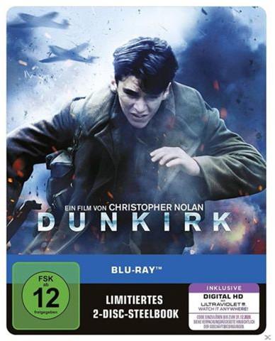 Dunkirk Limited Steelbook Edition (Blu-ray + Bonus Blu-ray + UV Copy) & King Arthur: Legend of the Sword Limited Steelbook Edition (Blu-ray + UV Copy) für 9€ versandkostenfrei (Media Markt)