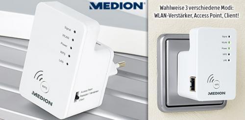 [ALDI SÜD] MEDION® P89137 3-in-1 Verstärker, Access Point, Client