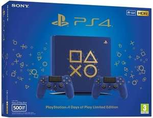 PlayStation 4 Day of Play Limited Slim Konsole inkl. 2 Controller + God of War für 274,19€ inkl. Versand nach DE (Saturn.at)