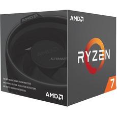 [alternate + masterpass] AMD Ryzen 7 2700 Boxed inkl. AMD Wraith Spire LED CPU-Kühler 8-Kern (Octa Core) CPU mit 3.20 GHz, Boxed mit Lüfter