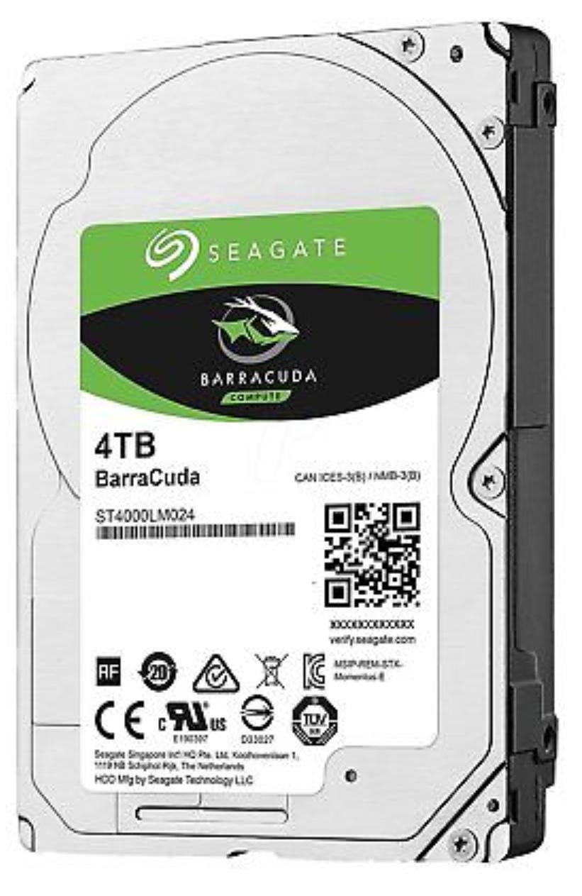 Seagate BarraCuda 4TB ST4000LM024 interne Festplatte 15mm 2,5 Zoll 128MB, SATA3 (recertified, 2 Jahre Garantie)