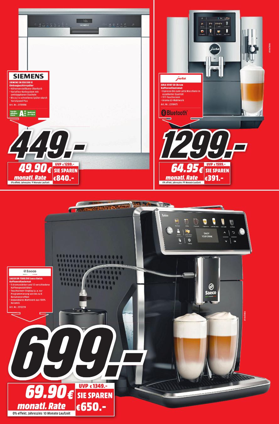 [Regional Mediamarkt Konstanz] Saeco Xelsis SM7580 Kaffeevollautomat