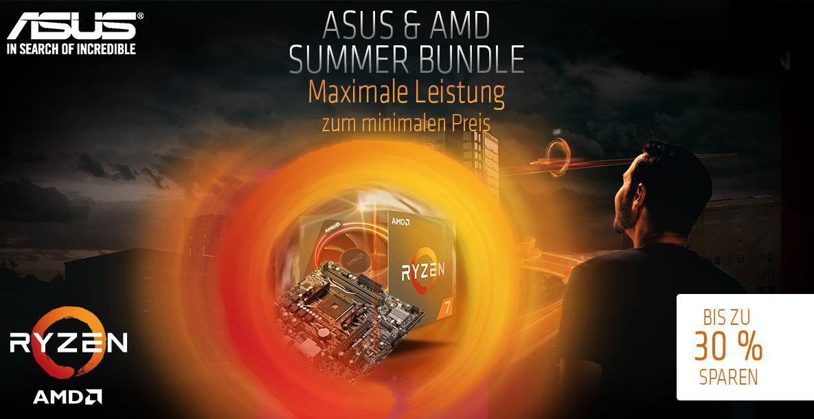 Gratis Mainboard, bis zu 30% sparen beim AMD und ASUS Bundle, Ryzen 2700 oder 2600