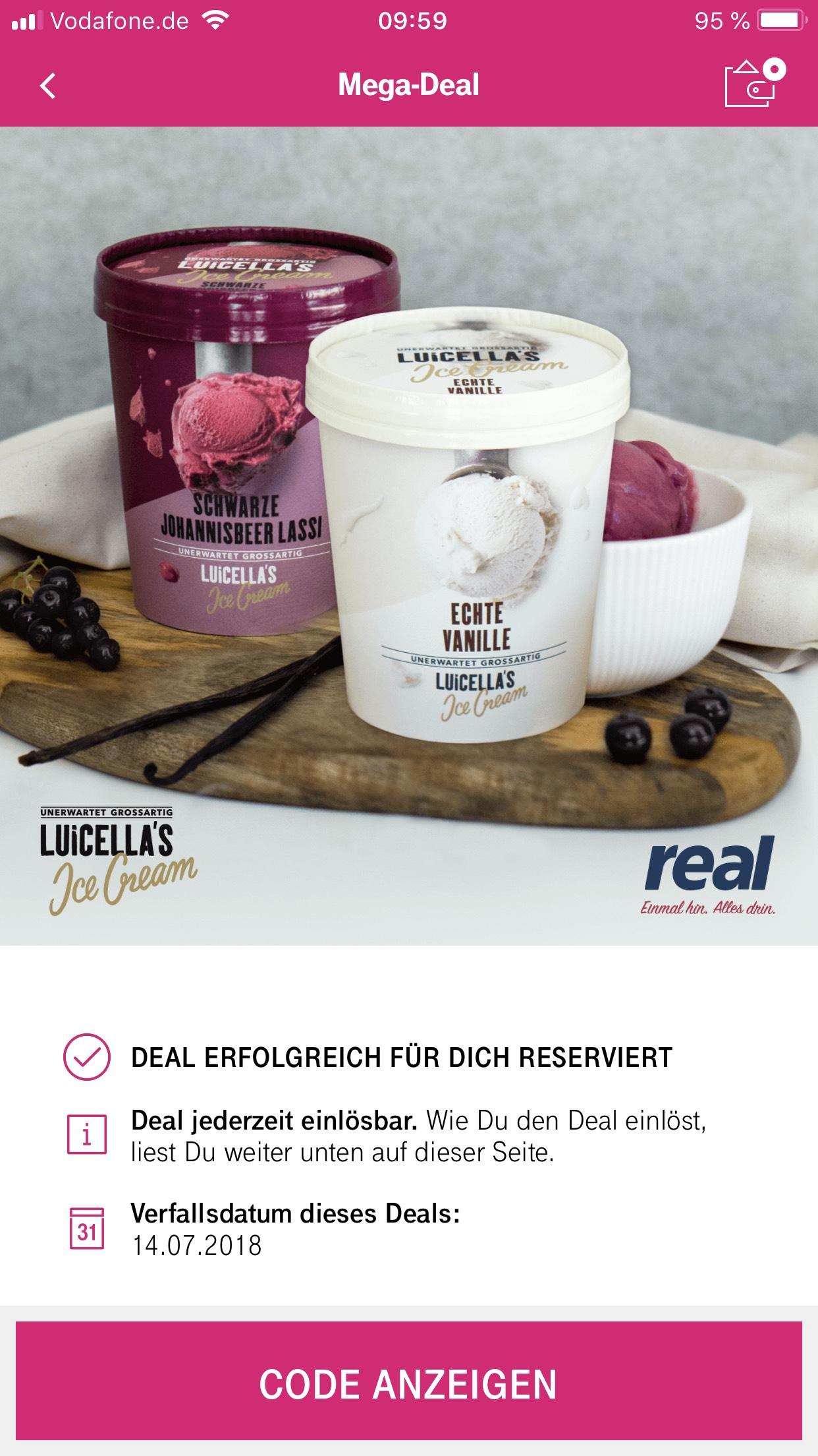 Telekom Mega-Deal Luicella's Eis kostenlos