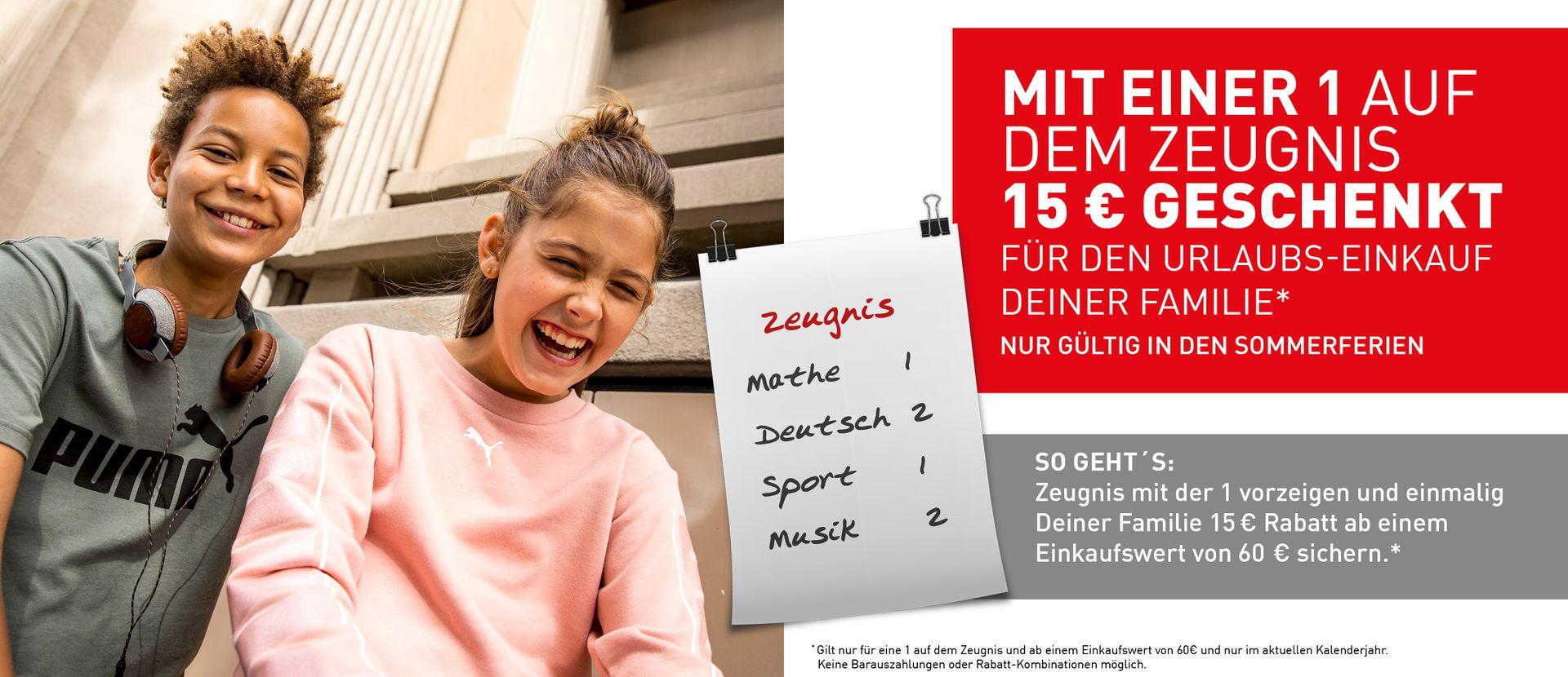 Intersport Voswinkel - 15€ Rabatt ab 60€ bei Schulnote 1 auf dem Zeugnis