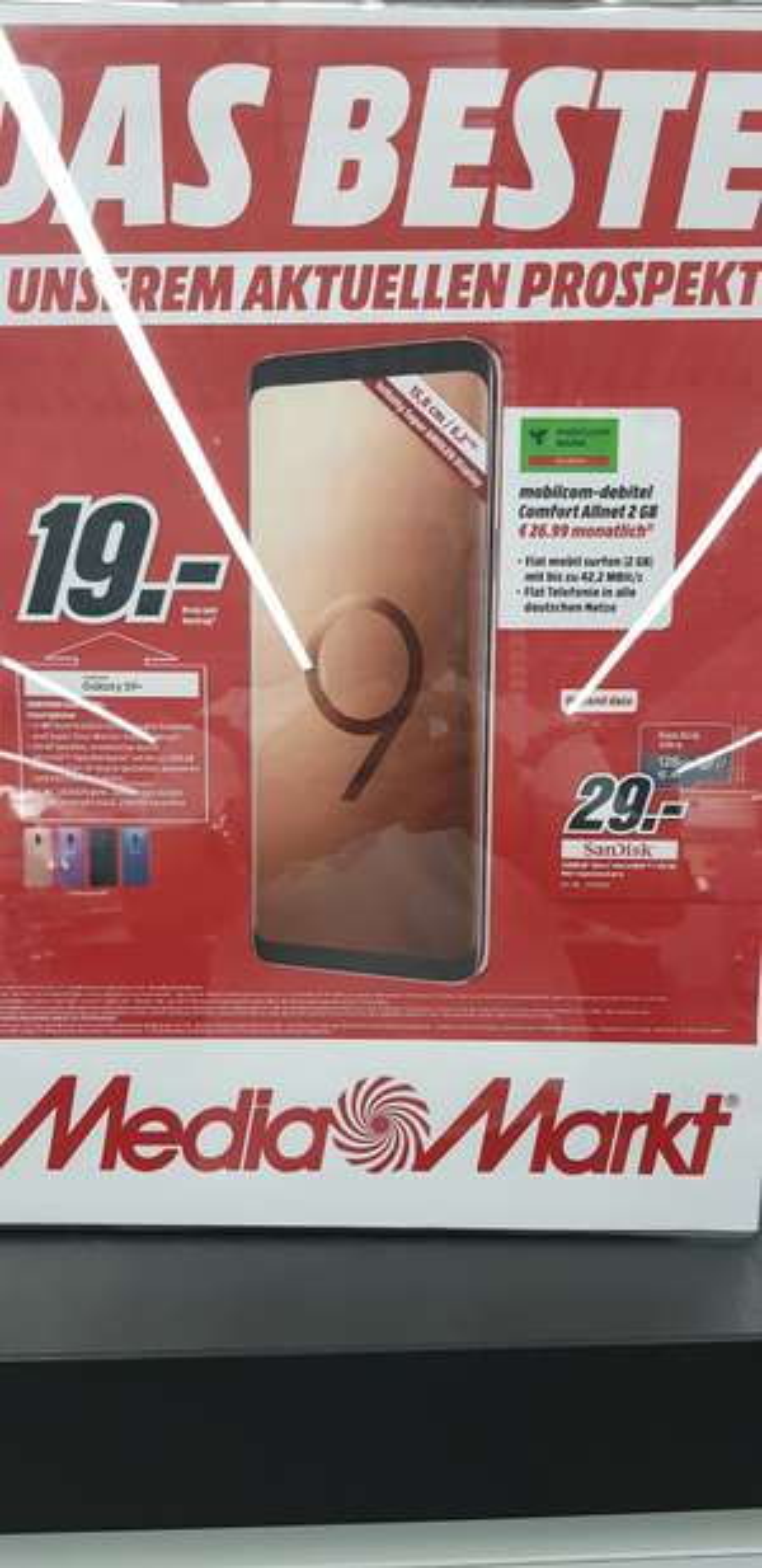 Samsung S9 Plus mit Tarif 26,99
