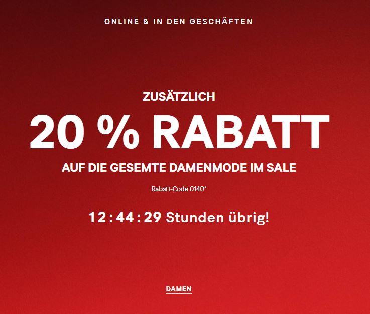 [H&M] zusätzlich 20% Rabatt auf die gesamte Damenmode im Sale!