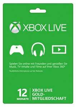 Xbox Live Gold - 12 Monate (ohne VPN)