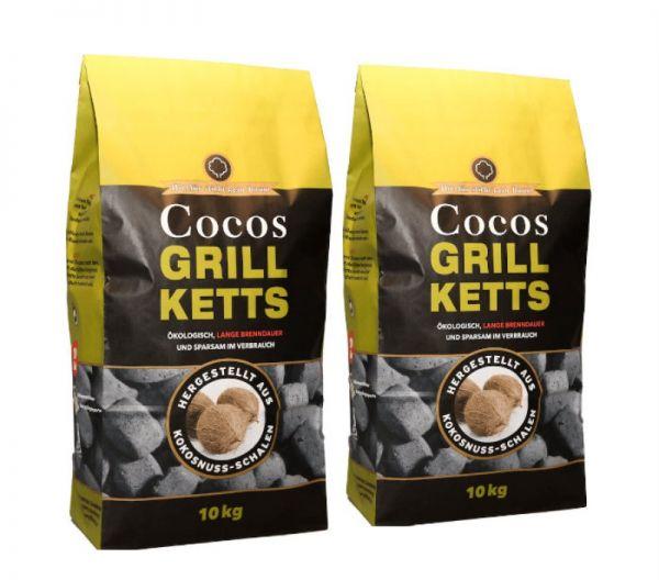 20kg Kokos Grillbriketts für 25,59 (1,28€/kg)
