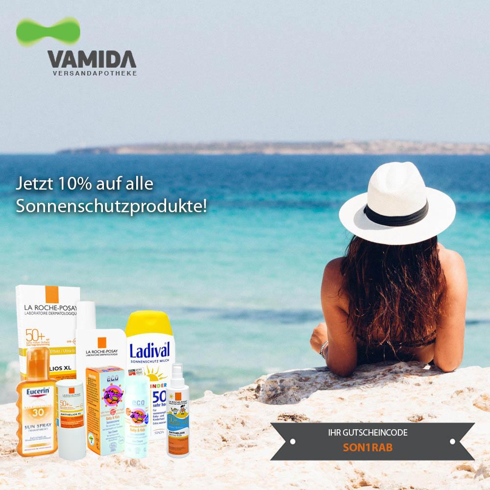 -10% auf alle Sonnenschutzprodukte bei Vamida Versandapotheke!