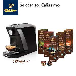 TCHIBO CAFISSIMO Tuttocaffè Nero inkl. 100 Kapseln