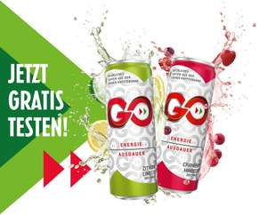GO Energie Drink: 5.000 Probierpakete kostenlos verfügbar !