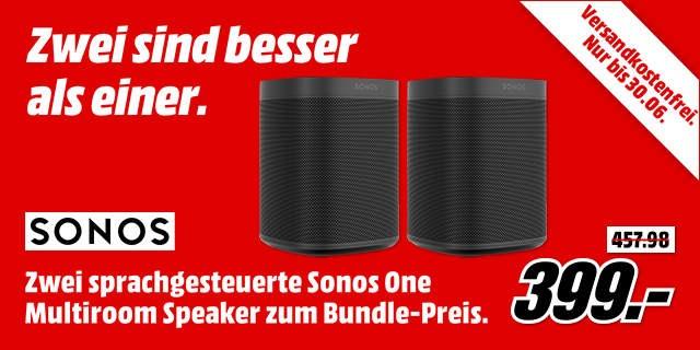 2x Sonos One für 399€ oder 370,20€ mit Payback