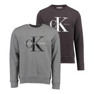 """Calvin Klein Herren Sweatshirt """"CN"""" in Schwarz oder Grau aus reiner Baumwolle"""