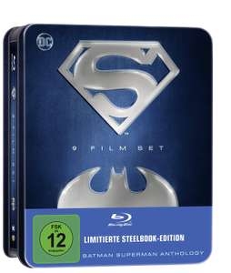 Batman Superman Anthology - 9 Film Set (Limitierte Tin-Box Edition) (Blu-ray) für 32,82€ (Amazon)