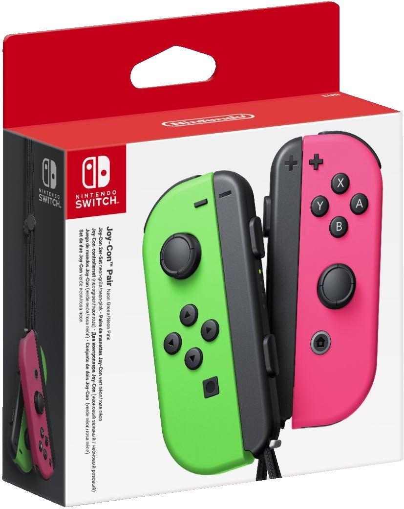 Nintendo Switch Joy-Con 2er-Set Neon-Grün/Neon-Pink  für 52,43€ (Amazon FR)
