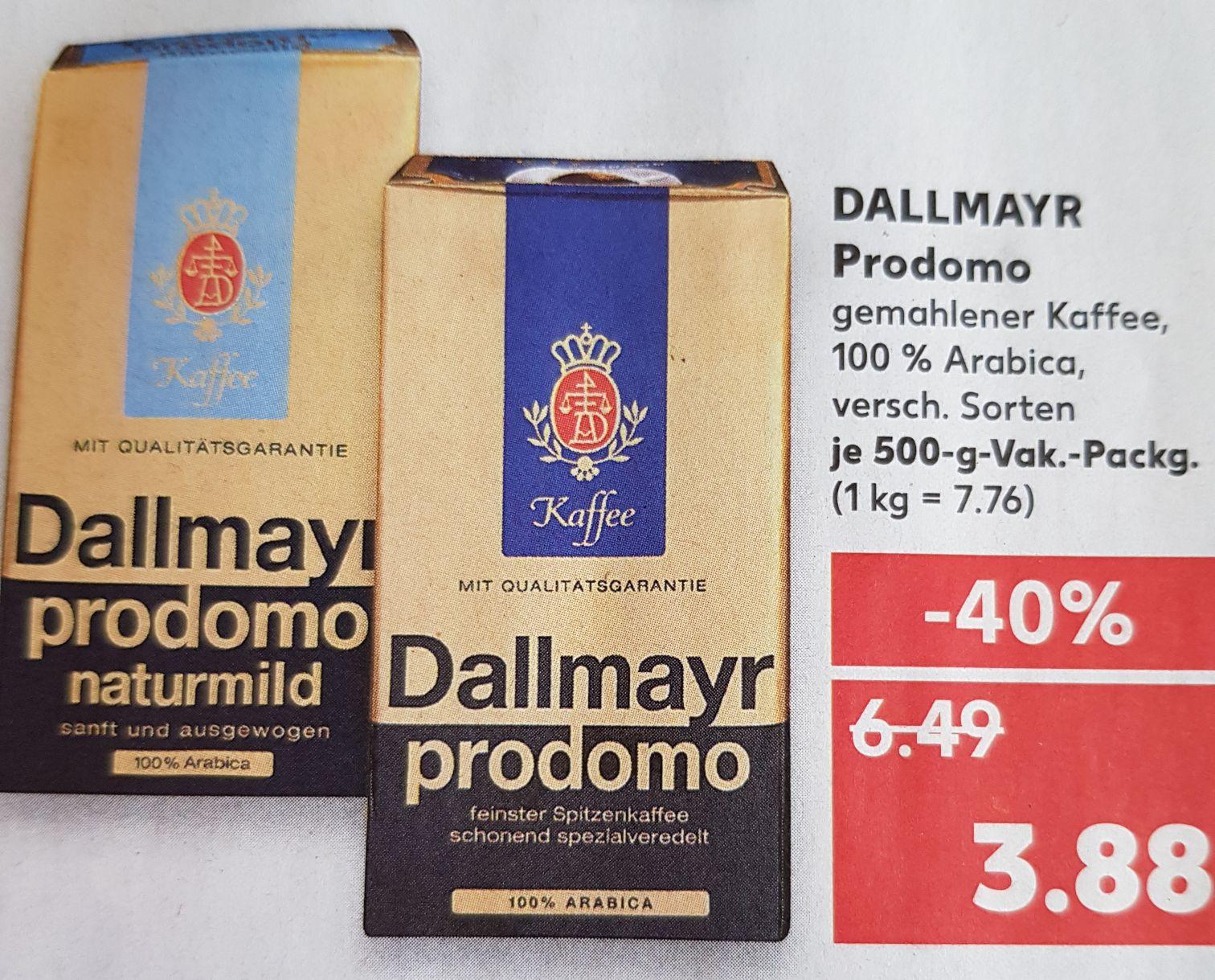 (Offline Kaufland)Kaffee Dallmayr Prodomo -40%