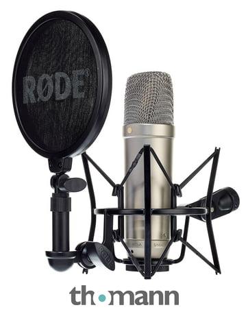 Rode NT1-A Kondensator-Studiomikrofon inkl. Spinne, Popschutz und 6m XLR Kabel B Ware