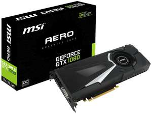 MSI GeForce® GTX 1080 Aero OC 8GB (V336-015R)( NVIDIA) Inklusive The Crew 2 (Download-Code)für 459,-€ [Mediamarkt]